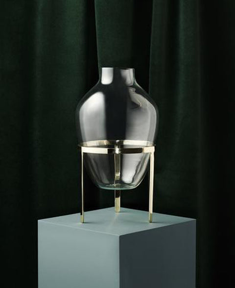 Nordstjerne - Small Brass Vase - The Minimalist Store