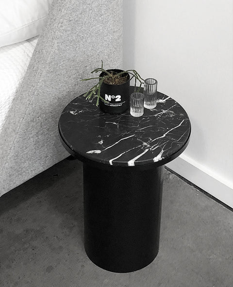 Esaila - Marble Side Table - The Minimalist Store