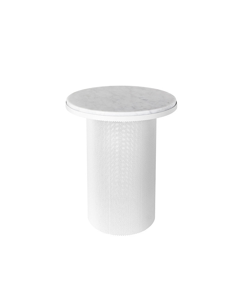 esaila pedestal side table white the minimalist store