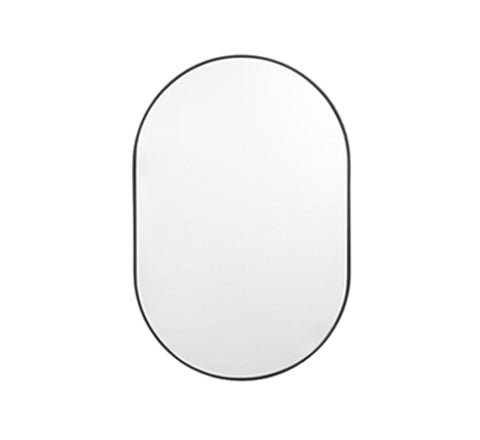 Middle Of Nowhere - Bjorn Oval Mirror / Black - The Minimalist Store
