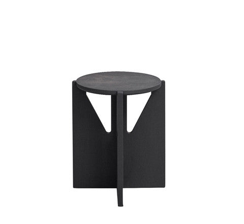blackened beechwood side table / small - Kristina Dam - The Minimalist Store