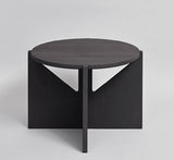 blackened beechwood side table / large