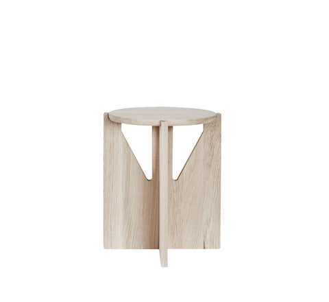 natural oak side table / small