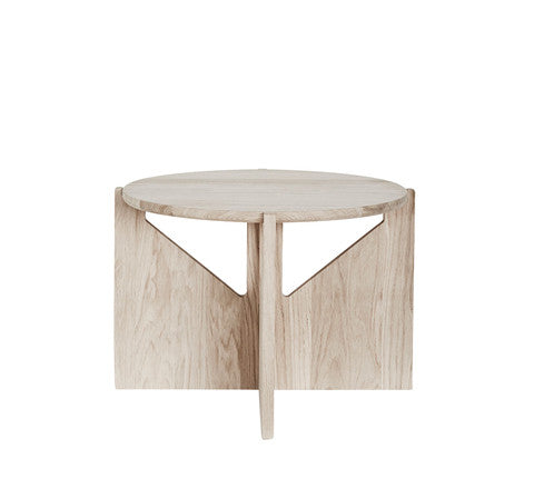 natural oak side table / large