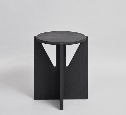 blackened beechwood side table / small