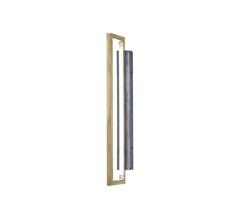 Kristina Dam - Brass Rectangular Lamp - The Minimalist Store
