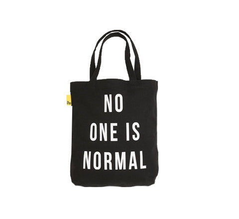 The School of Life - No One is Normal Tote / Black - The Minimalist Store