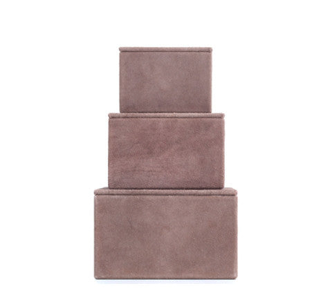Nordstjerne - Suede Boxes / Pale Rose - The Minimalist Store