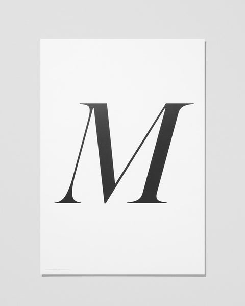 Playtype - M / Art Print - The Minimalist Store