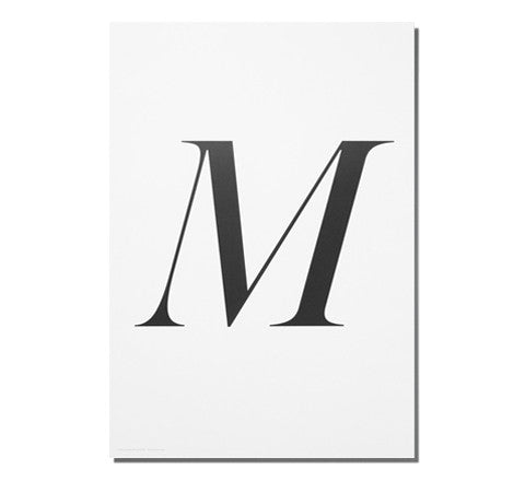 M / art print - Playtype - The Minimalist Store