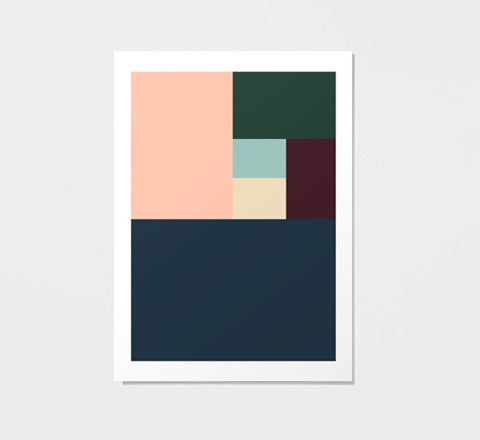 Colour block / art print