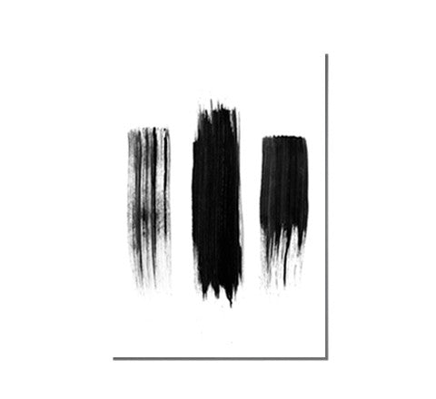 painted black lines / art print - RK Design - The Minimalist Store