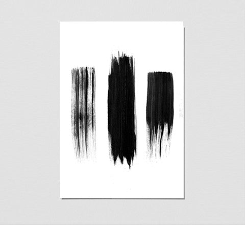painted black lines / art print