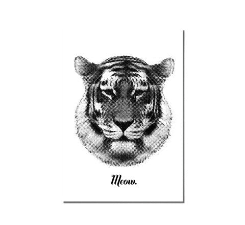 RK Design - Tiger Says Meow / Art Print - The Minimalist Store