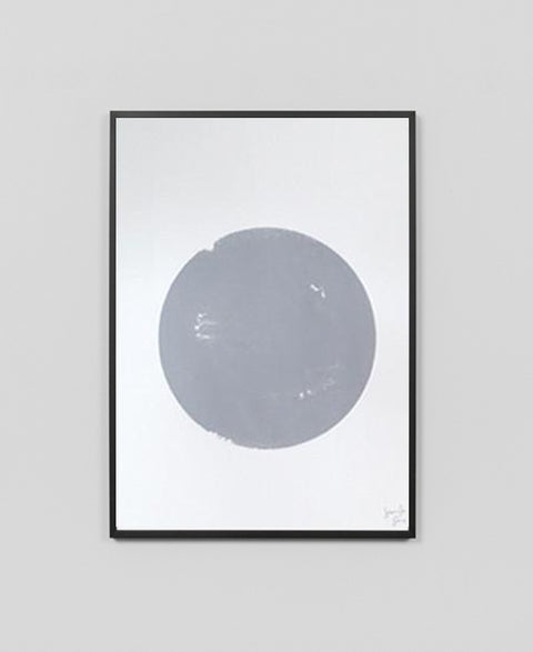 Jennifer + Smith - Screen Printed Grey Dot Artwork - The Minimalist Store