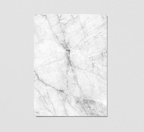 The Minimalist Home - White Marble Print - The Minimalist Store