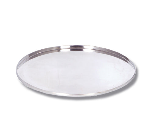 Round Silver Tray / Two Sizes
