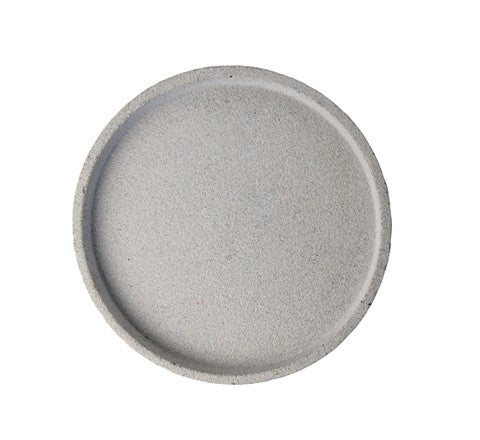 round concrete tray / two sizes