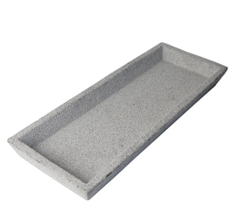 Zakkia - Rectangular Concrete Tray | 2 Finishes Available - The Minimalist Store