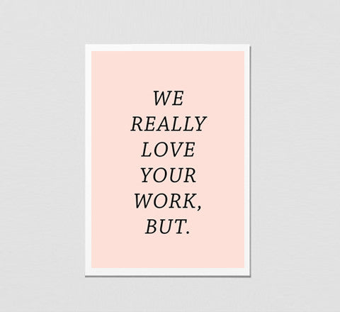 The Minimalist Home - Love Your Work / Art Print - The Minimalist Store
