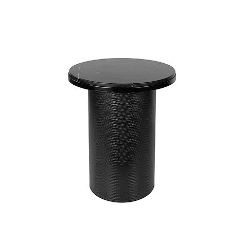 Esaila - Pedestal Side Table / Black - The Minimalist Store