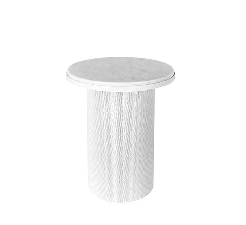 pedestal side table / white