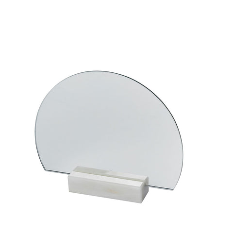 Half Moon Mirror Marble base