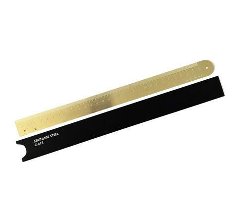 Made Of Tomorrow - Brass Ruler - The Minimalist Store