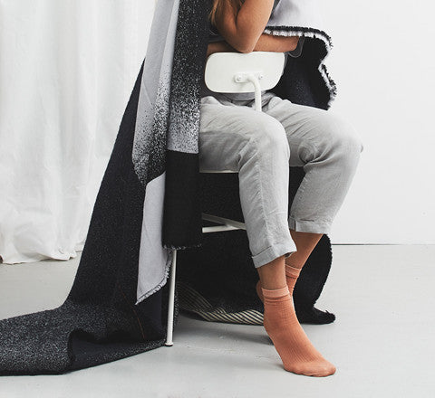 Mae Engelgeer - Mono Wool Blanket in Anthracite - The Minimalist Store