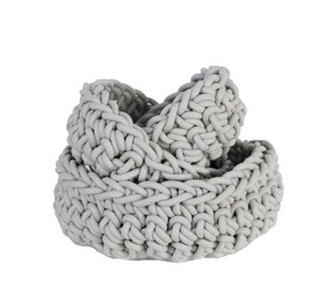 Crocheted Rubber Bowls / Three Sizes
