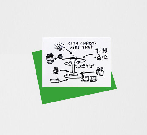 people i've loved - Christmas Tree / Greeting Card - The Minimalist Store