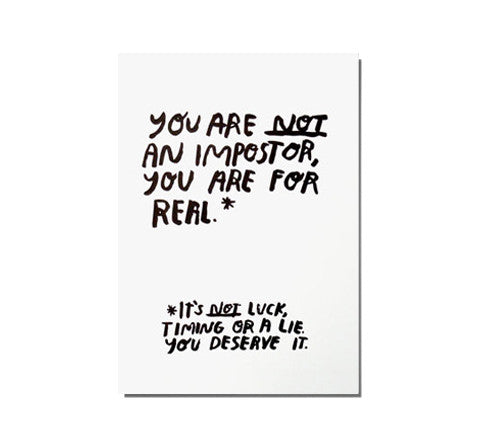 imposter / art print - People I've Loved - The Minimalist Store