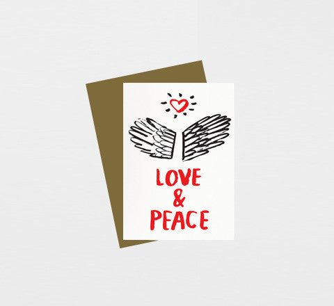 love and peace / greeting card