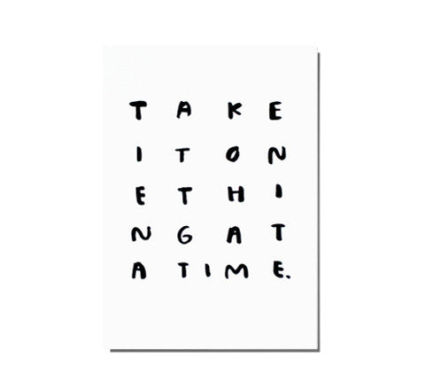 one thing / print