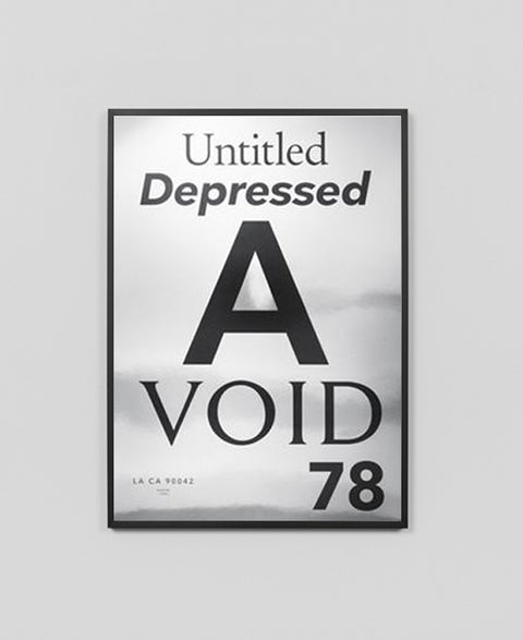 Playtype - Void / Silver Chrome Art Print - The Minimalist Store
