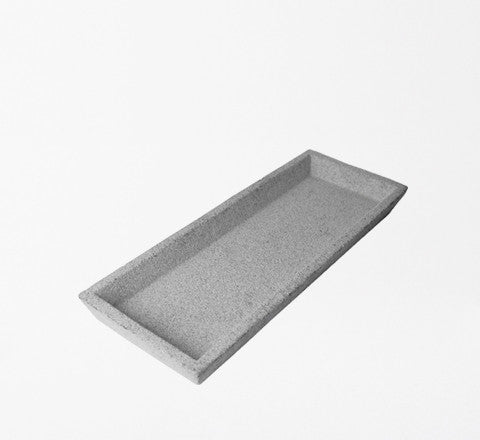 concrete tray / raw or black finish