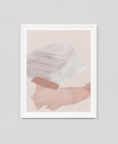 Middle Of Nowhere - Blush 1 Framed Art Print - The Minimalist Store