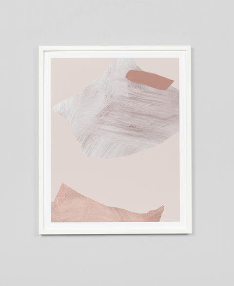Middle Of Nowhere - Blush 2 Framed Art Print - The Minimalist Store