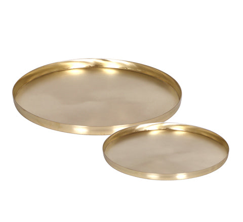 Zakkia - Brass Tray Set - The Minimalist Store