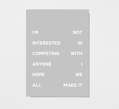 compete print - The Minimalist