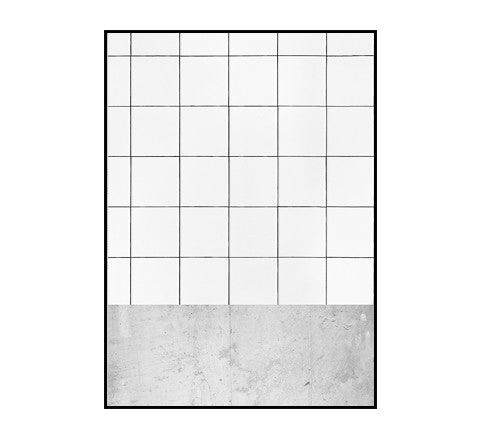 The Minimalist Home - Concrete + Tile Print / 50 x 70 cm - The Minimalist Store