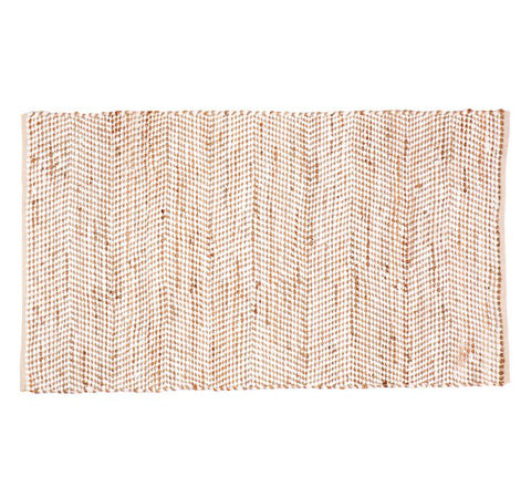 Woven Jute + Cotton Rug / Multiple Sizes