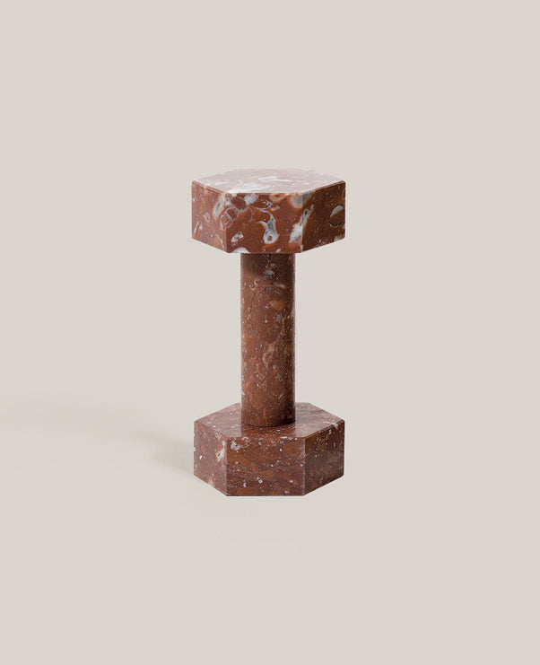 Addition Studio - Solid Red Marble Dumbell - The Minimalist Store