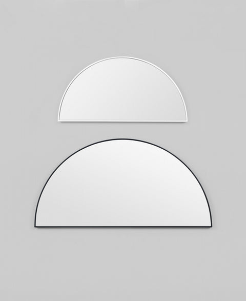 Half Moon Mirror | Available in 4 finishes and 2 sizes