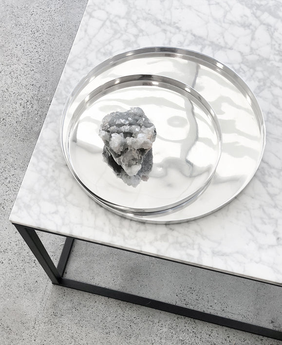 Zakkia - Silver Tray Set - The Minimalist Store