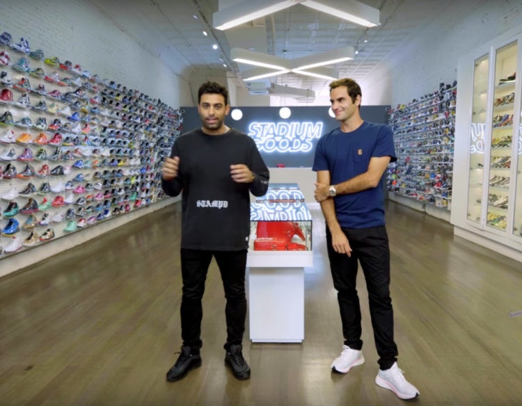 Tennis Super Star Roger Federer goes Sneaker shopping with Complex!!