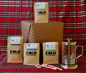Four Bags of Zolo and a Hario French Press