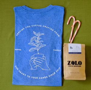 Zolo T-Shirt and Bag of Coffee