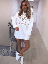 Load image into Gallery viewer, White Life is G Hoodie