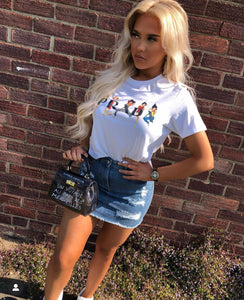 Cropped White Spice Girls Tee